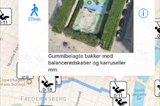 Find vej med legeplads-app